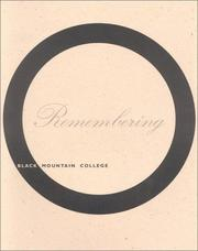 Cover of: Remembering Black Mountain College