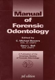 Cover of: Manual of Forensic Odontology |