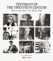 Cover of: Testimony of the twentieth century