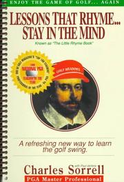 Cover of: Lessons that rhyme-- stay in the mind | Charles Sorrell