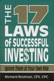 Cover of: The 17 laws of successful inve$ting