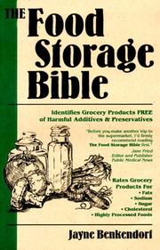 Cover of: The Food Storage Bible