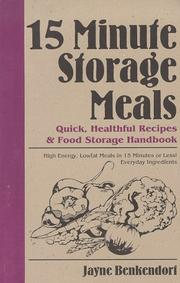 Cover of: 15 Minute Storage Meals