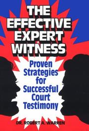 Cover of: The Effective Expert Witness