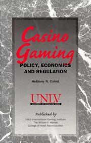 Casino gaming by Anthony N. Cabot