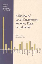 Cover of: A review of local government revenue data in California