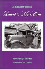 Cover of: Letters to My Aunt  | Penny Albright Petersen