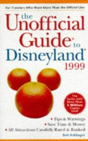 Cover of: The Unofficial Guide to Disneyland 1999 (Serial) | Arthur Frommer