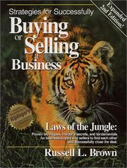 Cover of: Strategies for Successfully Buying or Selling a Business | Russell L. Brown