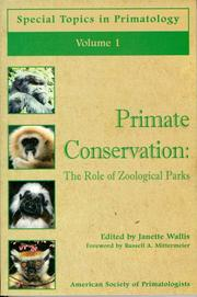 Cover of: Primate Conservation | Janette Wallis