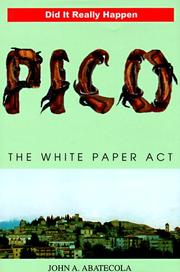 Cover of: Pico