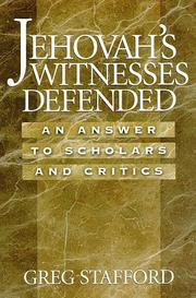 Cover of: Jehovah's Witnesses defended by Greg Stafford