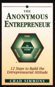 Cover of: The anonymous entrepeneur | Chad Simmons