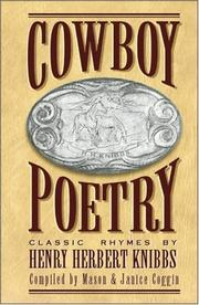 Cover of: Cowboy poetry