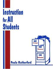 Instruction for All Students by Paula Rutherford