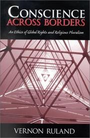 Cover of: Conscience across borders | Vernon Ruland