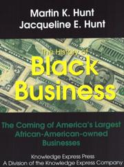 Cover of: History of black business