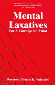 Cover of: Mental laxatives for a constipated mind | Donald E. Pederson