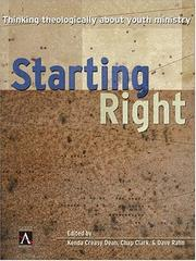 Cover of: Starting Right | Kenda Creasy Dean