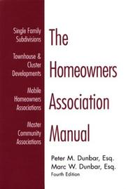Cover of: The homeowners association manual