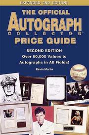 Cover of: The official autograph collector price guide