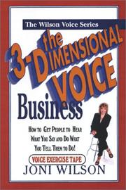 Cover of: The 3-Dimensional Business Voice Tape