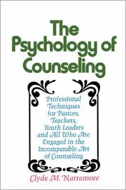 Cover of: The Psychology of Counseling | Clyde Narramore