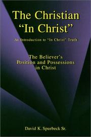 "Cover of: The Christian ""in Christ"""