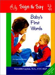 Cover of: Baby's first words