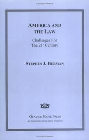 Cover of: America and the law