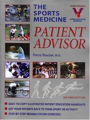 Cover of: The Sports Medicine Patient Advisor | Pierre Rouzier