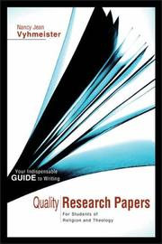 Cover of: Quality Research Papers | Nancy Jean Vyhmeister