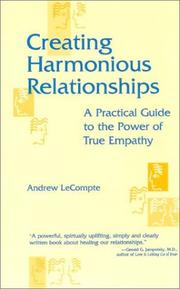 Cover of: Creating harmonious relationships