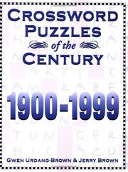 Cover of: Crossword Puzzles of the Century | Gwen Urdang-Brown