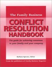 Cover of: The family business conflict resolution handbook |
