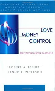Cover of: Love, money, control