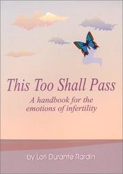 Cover of: This too shall pass | Lori Durante Rardin