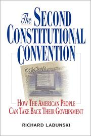 Cover of: The second constitutional convention by Richard E. Labunski
