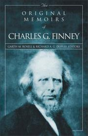 Cover of: The original memoirs of Charles G. Finney