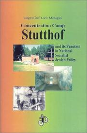Cover of: Concentration Camp Stutthof and its function in National Socialist Jewish policy