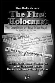 Cover of: The First Holocaust | Don Heddesheimer