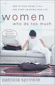 Cover of: Women who do too much
