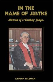 Cover of: In the name of justice