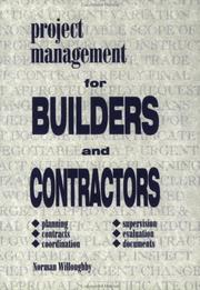 Cover of: Project Management for Builders and Contractors