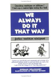 Cover of: We Always Do It That Way