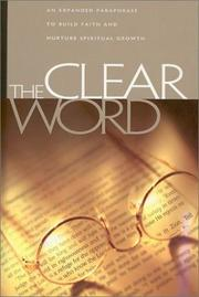 Cover of: Clear Word