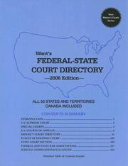 Cover of: Want's Federal-State Court Directory 2006