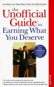 Cover of: The Unofficial Guide to Earning What You Deserve (The Unofficial Guide Series) | Jason R. Rich