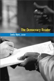 Cover of: The Democracy Reader (IDEA (International Debate Education Association)) | Sondra Myers