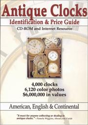 Cover of: Antique Clocks Identification and Price Guide CD-ROM and Internet Resource